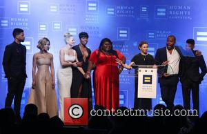 Jussie Smollett, Serayah, Kaitlin Doubleday, Ta'rhonda Jones, Gabourey Sidibe, Ilene Chaiken, Lee Daniels and Bryshere 'yazz' Gray