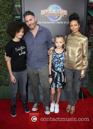 Thandie Newton, Ol Parker, Ripley Parker, Booker Jombe Parker and Nico Parker