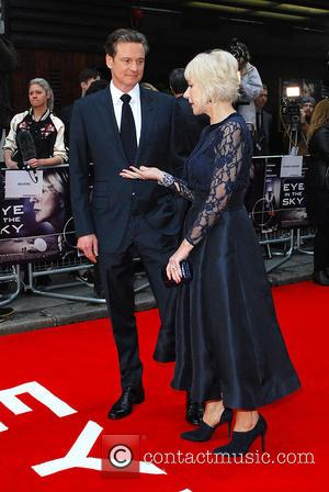 Dame Helen Mirren on the red carpet. - Eye in the Sky  UK film premiere Colin Firth, Dame Helen...