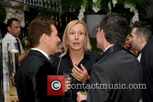 Michael Feinstein, Martina Navratilova and Guest
