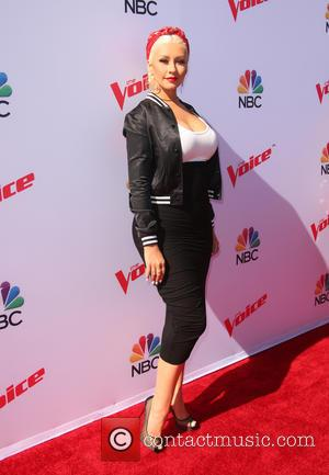 Christina Aguilera - The Voice Karaoke For Charity held at Hyde Sunset Kitchen at HYDE Sunset: Kitchen + Cocktails -...