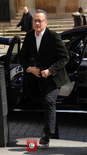 Tom Hanks - Tom Hanks arrives at BBC Broadcasting House - London, United Kingdom - Tuesday 26th April 2016
