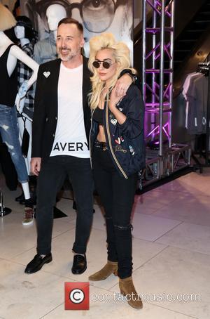 David Furnish and Lady Gaga