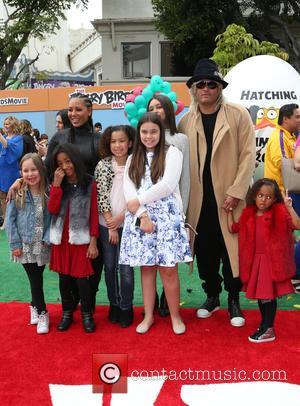 Mel B, Stephen Belafonte, Madison Brown Belafonte, Angel Iris Murphy Brown and Phoenix Chi Gulzar
