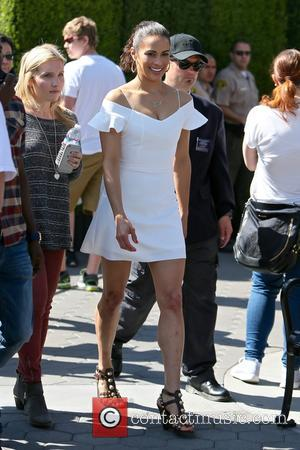 Paula Patton - Paula Patton seen at universal studios where she was interviewed by Mario Lopez for television show Extra....
