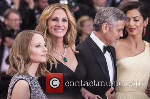 Jodie Foster, Julia Roberts, George Clooney and Amal Clooney