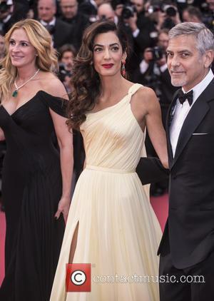 Julia Roberts, Amal Clooney and George Clooney