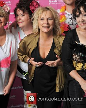 Jennifer Saunders - MoonWalk London 2016 - 1000's walk at night in the moonlight wearing bras, to raise awareness of...