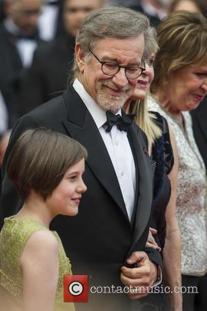 Ruby Barnhill and Steven Spielberg