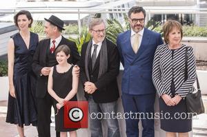 Rebecca Hall, Mark Rylance, Steven Spielberg, Ruby Barnhill and Penelope Wilton