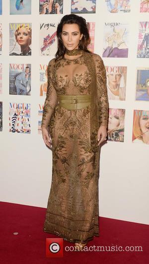Kim Kardashian - British Vogue 100th anniversary gala dinner at Kensington Gardens - London, United Kingdom - Monday 23rd May...