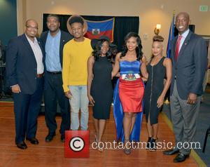 Justice, Haiti Minister Of Tourism Guy Didier Hyppolite, Haiti Counsul Guy Francois Jr., Marnino Toussaint, Hillary Nomes, Saskya Sky and City Of Miramar Mayor Wayne Messam