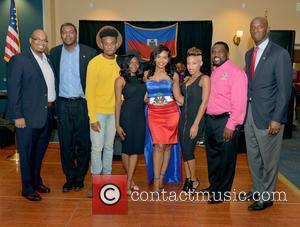Justice, Haiti Minister Of Tourism Guy Didier Hyppolite, Haiti Counsul Guy Francois Jr., Marnino Toussaint, Hillary Nomes, Saskya Sky, City Of Miramar Mayor Wayne Messam and Maxwell