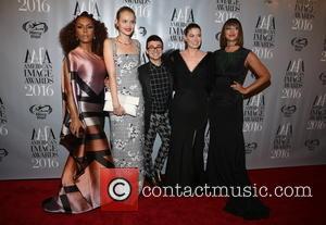 Janet Mock, Jasmine Poulton, Christian Sirano, Debra Messing and Jackie Cruz