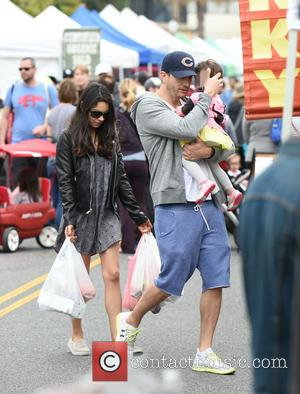 Ashton Kutcher, Mila Kunis and Wyatt Kutcher