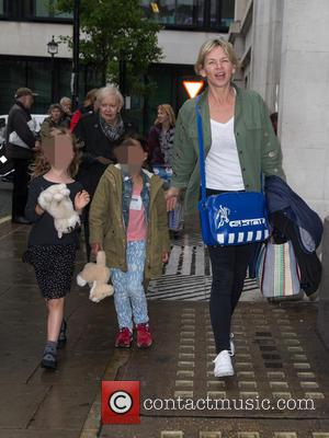 Zoe Ball, Nelly May Lois Cook , Woody Fred Cook - Zoe Ball arrives at the BBC Radio 2 studios...