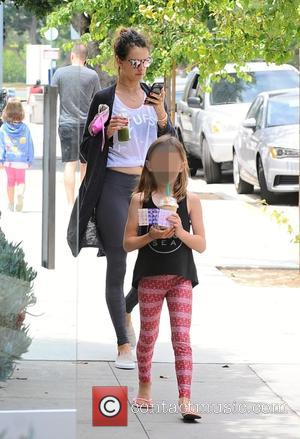 Alessandra Ambrosio , Anja Mazur - Alessandra Ambrosio goes out for lunch with her family after yoga class at Brentwood...