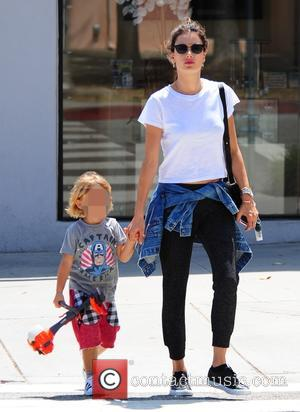 Alessandra Ambrosio , Noah Phoenix Ambrosio Mazur - Alessandra Ambrosio takes her son Noah shopping for some party supplies. The...