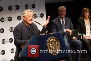 Robert De Niro, Bill De Blasio and Jane Rosenthal