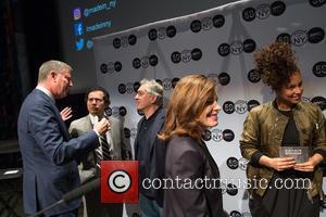 Robert De Niro, Bill De Blasio, Alicia Keys, John Leguizamo and Julie Menin