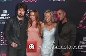 Billy Ray Cyrus, Brandi Cyrus and Joey Lauren Adams