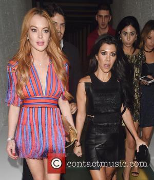 Kourtney Kardashian and Lindsay Lohan