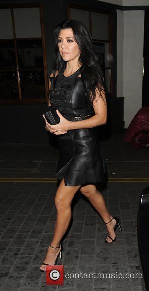 Kourtney Kardashian - Kourtney Kardashian enjoys a night out at Lou Lou's private members club in Mayfair, with Lindsay Lohan....