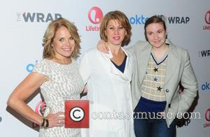 Katie Couric, Sharon Waxman and Lena Dunham