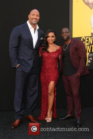 Dwayne 'the Rock' Johnson, Danielle Nicolet and Kevin Hart