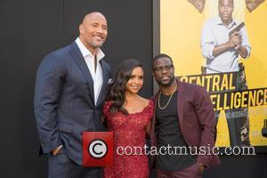 Dwayne Johnson, Danielle Nicolet and Kevin Hart