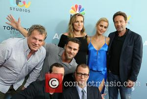 Marty Adelstein, Grey Damon, Gethin Anthony, Michaela Mcmanus, Claire Holt and David Duchovny