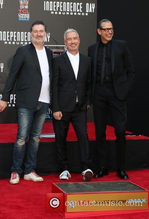 Harald Kloser, Roland Emmerich and Jeff Goldblum