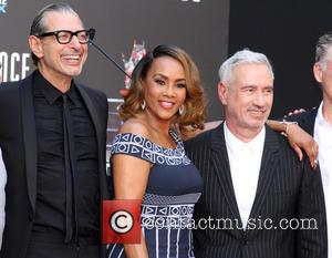 Jeff Goldblum, Vivica A. Fox and Roland Emmerich
