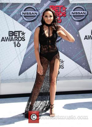 Tinashe seen wearing a gorgeous (yet revealing) black lace dress at the 2016 BET Awards held at The Microsoft Theater...