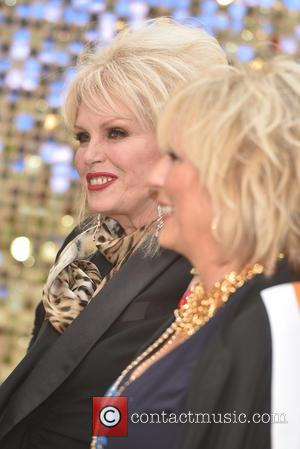 Jennifer Saunders and Joanna Lumley at the premiere of their new film  'Absolutely Fabulous: The Movie' held at the...