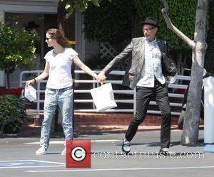 Jeff Goldblum and his wife Emilie Livingston go shopping at Fred Segal in Beverly Hills. The actor is seen wearing...