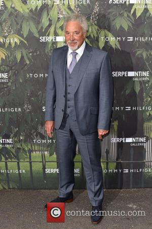 Sir Tom Jones seen arriving at the Serpentine Gallery Summer Party held at Kensington Gardens, London, United Kingdom - Wednesday...