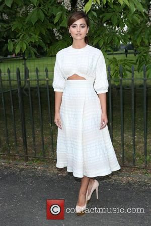Doctor Who actress Jenna Coleman seen arriving at the Serpentine Gallery Summer Party held at Kensington Gardens, London, United Kingdom...