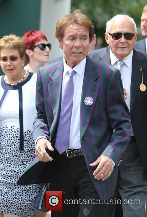 Sir Cliff Richard is a regular at Wimbledon and this year he once again appeared. The singer is seen here...