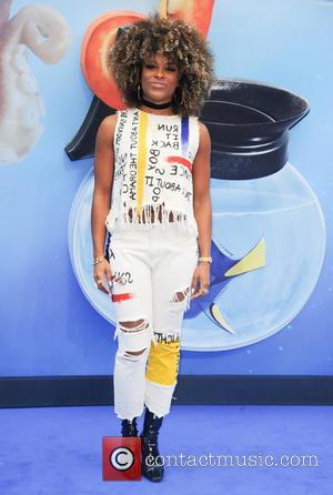Singer and former X Factor contestant Fleur East at the European premiere of 'Finding Dory' held at Odeon Leicester Square,...