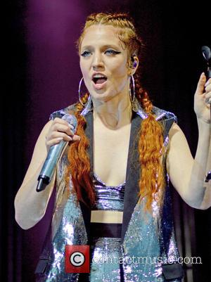 Jess Glynne performs live on stage during 'An Evening at the Races with Jess Glynne' at Sandown Park - Esher,...