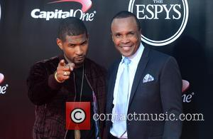 Usher and Sugar Ray Leonard