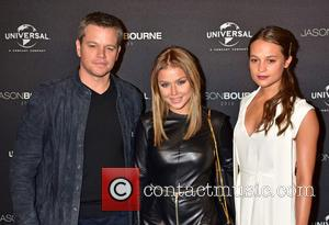 Matt Damon, Kim Gloss and Alicia Vikander