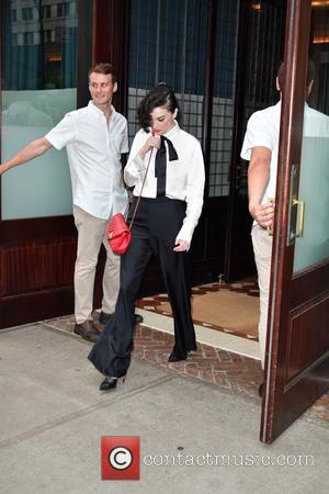 Musician Annie Clark aka St Vincent seen wearing a smart trouser suit whilst out and about in TriBeCa - Manhattan,...