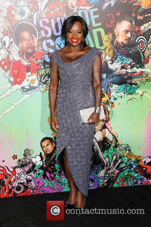 Viola Davis who plays Amanda Waller in 'Suicide Squad' seen at the world premiere of the movie held at the...