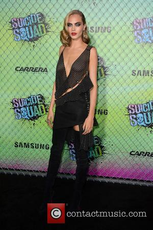 British actress and former model Cara Delevingne seen at the 'Suicide Squad' World Premiere held at the Beacon Theater in...