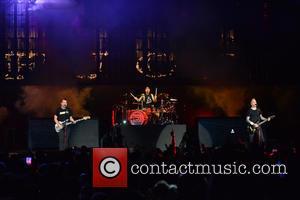 Matt Skiba, Travis Barker and Mark Hoppus