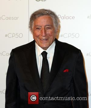 Tony Bennett on the red carpet at Caesars Palace which is celebrating its 50th Anniversary - Las Vegas, Nevada, United...