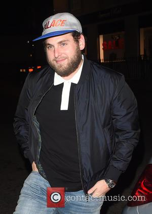 Jonah Hill seen leaving Chiltern Firehouse in London wearing a Palace Baseball Cap. United Kingdom - Tuesday 9th August 2016