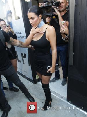 Kim Kardashian shops in West Hollywood, California - Los Angeles, United States - Wednesday 10th August 2016